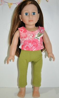 """American Girl Doll Our Generation Journey 18"""" Dolls Clothes Crop Top Leggings"""