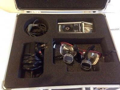 Orascoptic Loupes 2.0x + Zeon Endeavor Light w/ Case, -4.00 Rx in Lenses
