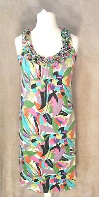 a54ce726738 Boden multi coloured tropical leaf cotton summer winter sun shift dress  size 6