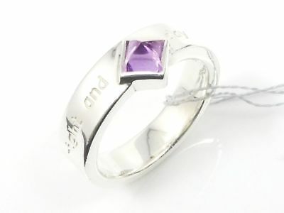 Auth Take Up Sterling Silver 925 Amethyst night and day Ring US6 EU52 A1914