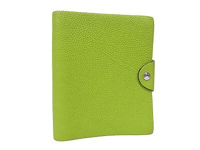 Auth Hermes Togo Leather Ulysse PM Planner Diary Cover Notebook Holder S897