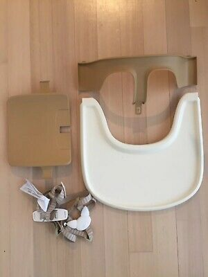 Stokke Tripp Trapp Highchair Baby Seat Set Natural, Harness And Tray EUC BUlk