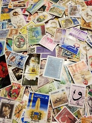 World, Collection lot of 500 worldwide stamps, Off paper, mint, used #14