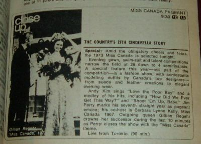 Tv Guide Montreal >> 1973 Tv Guide Miss Canada Beauty Pageant Montreal Canadians Hockey Tommy Hunter