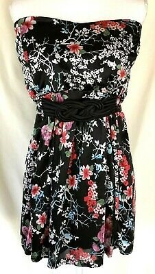 4b5f3871a9 TORRID Women s 5 Strapless Blouse Tube Top Empire Stretch Floral Asian  Inspired