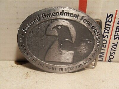 Vintage Second Amendment Foundation Belt Buckle Right To Keep And Bear Arms