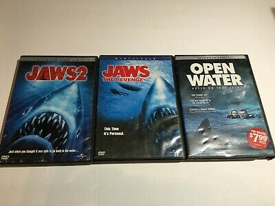 Jaws 2, Jaws The Revenge & Open Water DVD Lot