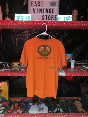 VINTAGE 1995 Reeses Peace Sign Reeses Cup Chocolate Orange T Shirt SIZE LARGE