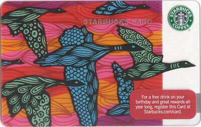 STARBUCKS CARDFall Migration features graphic design of flying geese-Series 6063