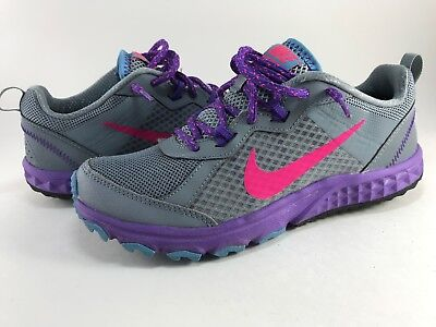 brand new bc1a1 b8709 Nike Wild Trail Size 7 Women s Trail Running Shoes Gray blue 643074-013 EUC