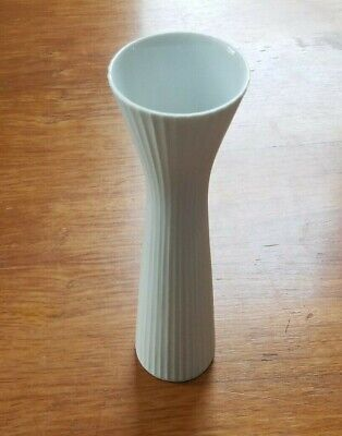 Rosenthal Porcelain White 7 1/8 inch Studio Linie Germany ribbed Vase