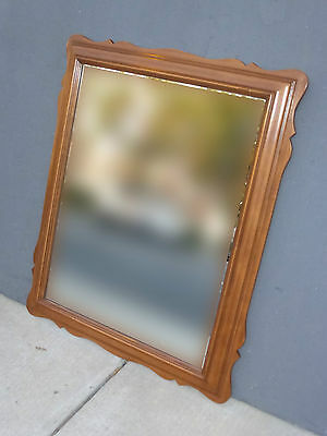 Vintage French Country Cottage Wall Mantle Mirror by California House