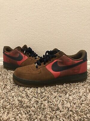 new style 5bdcc 8e9aa Mens Nike Air Force 1 XXV Vince Carter Shoes Khaki Red Size 13