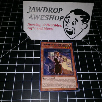 1ST EDITION CHARMING RESORT STAFF INOV-EN086 YU-GI-OH CARD YUGIOH w/ TOPLOADER
