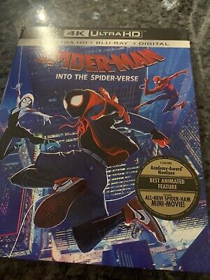 Spider-Man: Into the Spider-Verse | 4K Ultra HD + Blu-Ray + Digital | Brand New