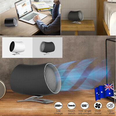 USB Cooling Rotatable Desk Fan MINI Ultra Quiet Portable Touch Control Summer