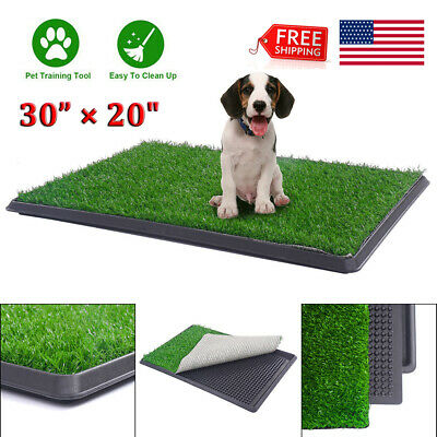 "30""X20"" Grass Pet Dog Potty Patch Park Mat In/Outdoor Toilet Training Pee Pads"