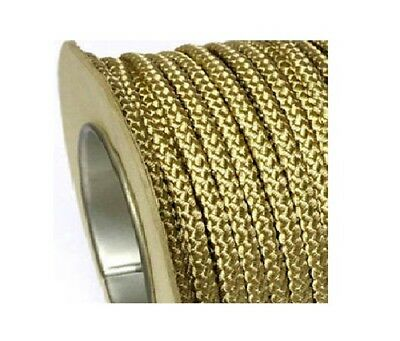 Braided Polyester Cord Metallic Gold - Various Lengths Available 6Mm Decorative