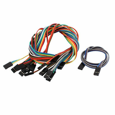 10PCS 2.54mm Pitch 3P Female Breadboard Double Head Jumper Wire Cable 50cm Long