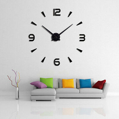Digital 3D Wall Clock Acrylic Stickers Numerals DIY Home Room Clocks Wall Decor