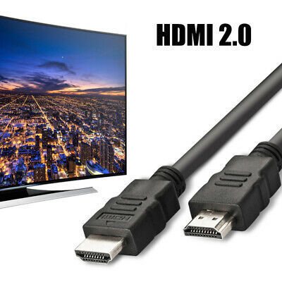 Premium HDMI 2.0 Cable Gold High Speed HDTV Ultra 2160p 4K 3D 0.5M to 5M