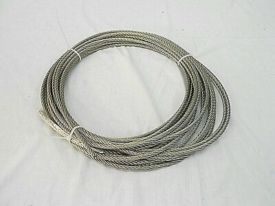 Aircraft Cable 7 X 19, 50 Feet