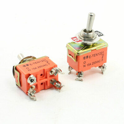 SCI R13-448F1-01A-1HWH DPST Toggle Switch 250VAC 16A Waterproof IP56 Metal Lever