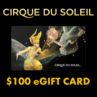 Cirque du Soleil $100 Gift Card Certificate NO EXP Ka Mystere Crystal Corteo O