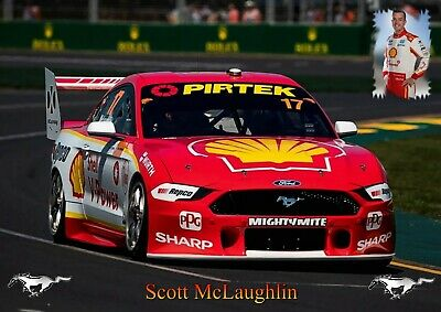 Scott McLaughlin Poster Ford Mustang 2019.