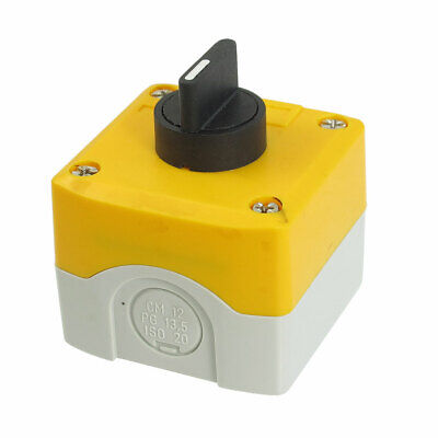 240V 3A 2 Normally Open ON/OFF/ON Latching 3 Position Pushbutton Switch
