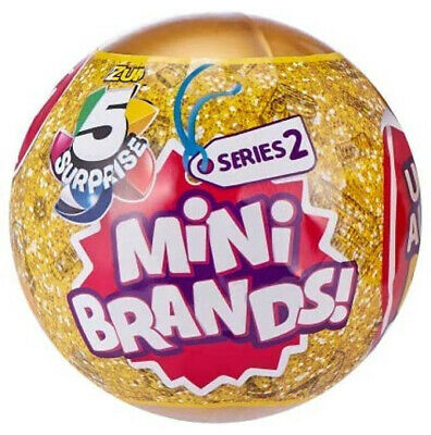 5 Surprise! Mini Brands - 1 Ball - Made By Zuru! 100% Real Authentic - New 2019