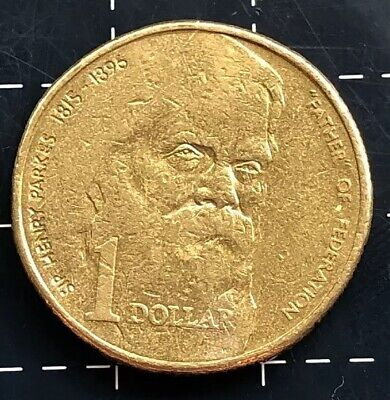 1996 Australian $1 Dollar Coin Father Of Federation Sir Henry Parkes 1815 - 1896