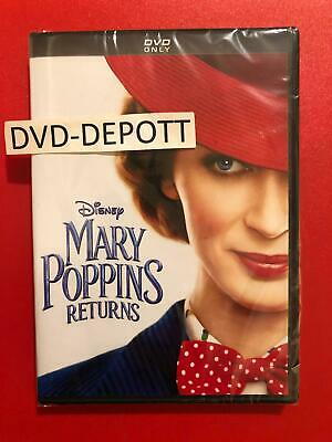 Mary Poppins Returns DVD *AUTHENTIC W/ DISNEY POINTS INSERT READ* FAST Free Ship