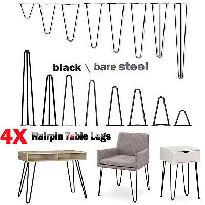 4x Premium Hairpin Table Legs + FREE Screws, Guide, AND Protector Feet 28 INCH