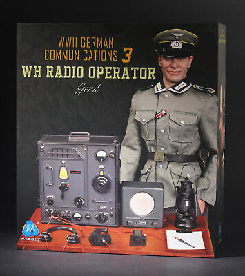 DID D80133 1//6 WWII German Communication 3 WH Radio Operator Gerd Figure Hat Cap