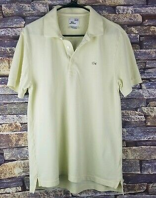 39972ac01daf Lacoste Vintage Washed Polo Rugby Shirt Men's Size 5 Medium Yellow Cotton