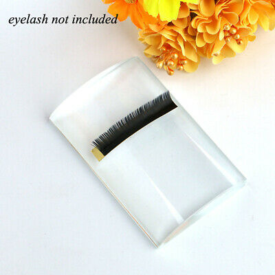 NEW Curved Tile Large Volume Eyelash Extension Stand Crystal Glass Glue Pallet