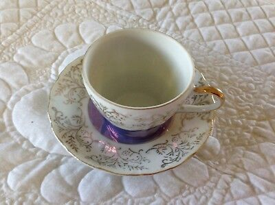 Vintage Fine China Small Tea Cup And Saucer, Japan