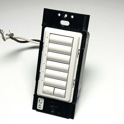 Lutron STRD-6BRL WH seeTouch 6 Button with Raise Lower - White