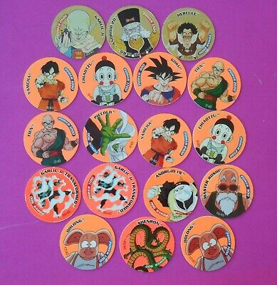 Dragon Ball Z Tazos 3 Gold And 15 Fluro Good Condition Free Tracking Postage