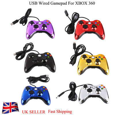 UK Wired Gamepad Game Controller Console Joystick Joypad for Microsoft XBOX 360