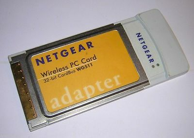 Netgear Wireless PC Card 32 bit- CardBus WG511 adapter