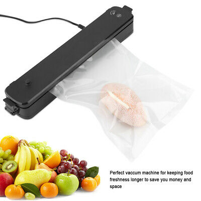 Sealing Machine Heat Sealer Vacuum Food Packing Tools Black 220v-240v UK Plug