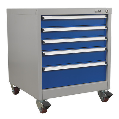 API5657B Sealey Mobile Industrial Cabinet 5 Drawer [Industrial Workstations]