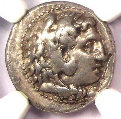 Alexander the Great III AR Drachm Coin 336 BC - Certified NGC Choice VF - Rare!