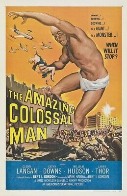 Amazing Colossal Man 1957 Replica Movie Poster