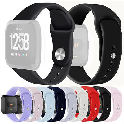 Soft Silicone Sport Replacement Watch Band Wrist Strap For Fitbit Versa Lite S/L