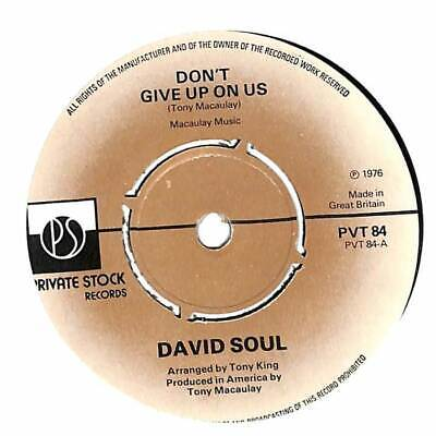 """David Soul - Don't Give Up On Us - 7"""" Record Single"""