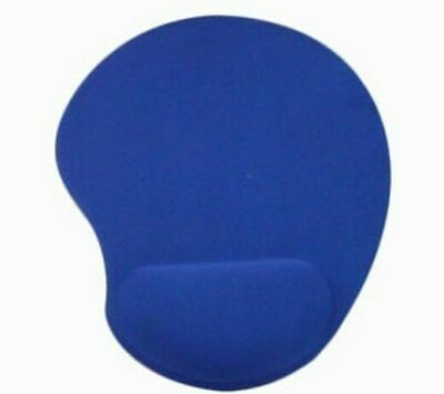 Anti-Slip Soft Mouse Mat Pad With Foam Wrist Support Computer PC Laptop Blue