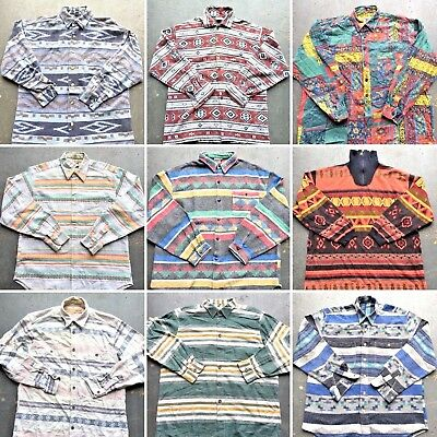 Vintage Wholesale Lot Inca Aztec Shirt Mix x 25